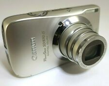 Canon SD970 IS Silver Digital Camera Powershot Digital Elph 12MP  - tested works