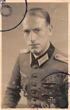 Passfoto Soldat mit Orden DK Feldspange EK - 1 Schulterklappe 14