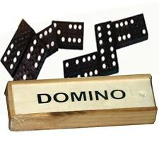 Kids Toy Dominoes Double Six Black Wood Pub Game Travel Party Bags Children Fun