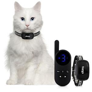 Small Cat Shock Collar w/Remote - Sound, Vibrate & Shock Mode - (Black/White)