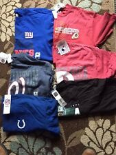 Lot Of 6 Team Apparel Baseball/ Football NFL- Major League T-Shirt's