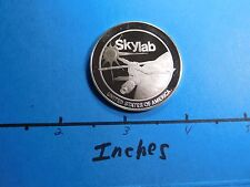SKYLAB NASA SPACE MISSION 1973 VINTAGE SILVER COIN RARE COOL HISTORICAL ITEM