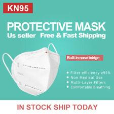 50pcs Kn95 Protective 5 Layers Face Mask Bfe 95 Pm25 Disposable Masks