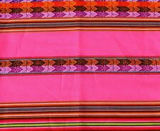 Peru Tischdecke Wandbehang rosa+bunt,120x220 cm, Inka Tragetuch Manta extra groß
