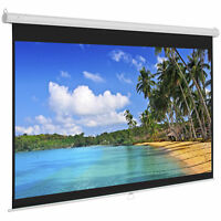 BCP 119in HD Pull Down Manual Projector Screen - White