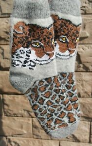 Winter Socks tiger leopard Christmas Warm Wool Comfortable thick soft 37-39EU