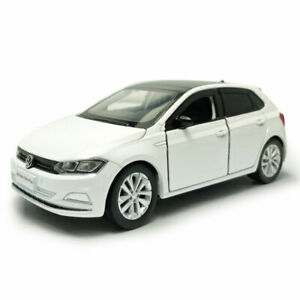 1:32 VW All New Polo Plus 2019 Model Car Diecast Toy Vehicle Sound & Light White