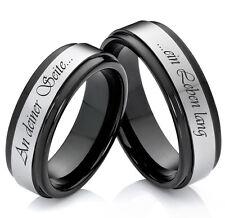 Eheringe Trauringe Verlobungsringe Partnerringe aus Wolfram und Lasergravur W929