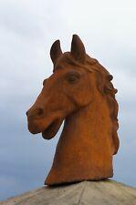 Reiter Pferd Pferdekopf Pferde, Gusseisen Pferdebüste Pferdefreund