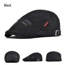 100% Cotton Mens Gatsby Cap Ivy Hat Golf Driving Sun Flat Cabbie Newsboy Cap P1