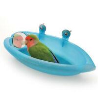 Bird Water Bath Tub For Pet Bird Cage Hanging Bowl Parrots Parakeet Birdbath New