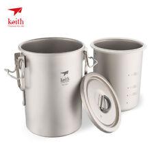 Keith Ti6300 Multipurpose Titanium Rice Pot Light Weight Camping Cooker