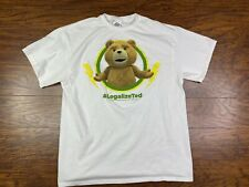 Legalize Ted Teddy Bear Graphic T-Shirt Large White EE