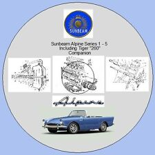 "Sunbeam Alpine Ser.1-5 Inc. Tiger"" 260"" & estoque taller manual y piezas listas"