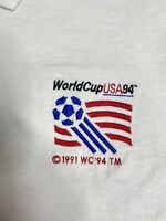 Vintage 90s 1996 Atlanta Olympics Polo Shirt Men's Size Medium White JERZEES USA