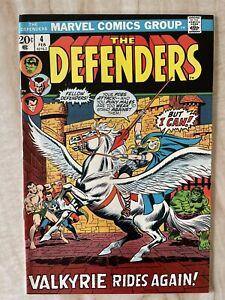 DEFENDERS #4-VALKYRIE RETURNS TO MARVEL UNIVERSE-JOINS DEFENDERS VF+ 8.5