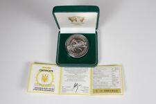2006 Ukraine 1 OZ Silver Proof Coin 10 UAH Bush Cricket (Poecilimon) + box & COA