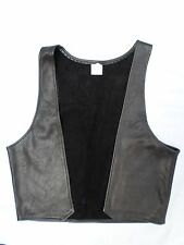 LEATHER CREATIONS black gay party bar open frontwaistcoat vest MEDIUM