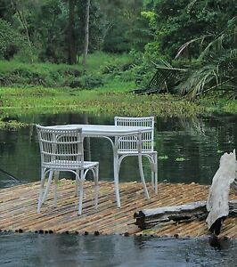 Outdoor Dining Set - made from ALUMINIUM - Multiple colours - LOOKS LIKE RATTAN