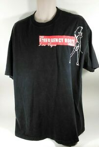 Vintage The Emergency Room Lounge Las Vegas Black Mens T-Shirt Sexy Nurse