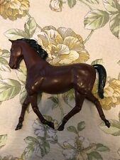 Vintage Louis Marx Bay Jointed Horse Toy Plastic W/ Black  Best Of West Model