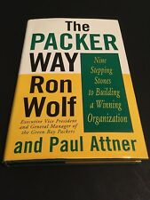 Authentic Ron Wolf Signed The Packer Way First Edition Book HOF FAVRE GREEN BAY