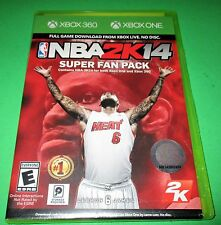 NBA 2K14 -Super Fan Pack- 2 Games in One(Digital Only) Xbox 360 & XBox One New!