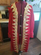 Men's red velvet 18th century frock coat