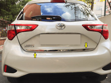 2017Up Toyota Yaris Chrome Rear Trunk Tailgate Lid Molding Trim S.Steel