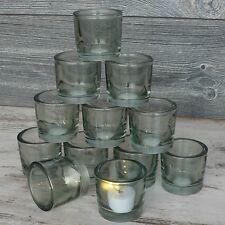 12 x Windlichter Glas klar Hochzeit Deko Teelichthalter Windlicht Votivglas Set