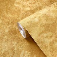 Wallpaper roll gold metallic Textured Plain Modern wall coverings animal fur