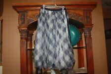 J. Crew Blue Gingham Tulle Full Midi Skirt Fall 19 Women's Size 4