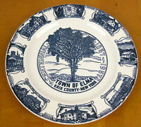 Vintage Elma New York NY Sesquicentennial Plate 1857-1957 Kettlesprings Kilns