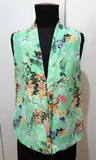 Size M Zara Green Floral Women's Sleeveless Blouse- 49cm Bust