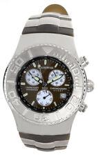 Aqua Swiss Womens Brown Dial Brown Rubber Strap Quartz Watch 40409 39mm