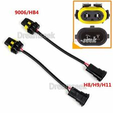 2X 9006 BULB TO H8 H11 CONVERSION HARNESS SOCKET ADAPTER FOR HEADLIGHT FOG LAMP