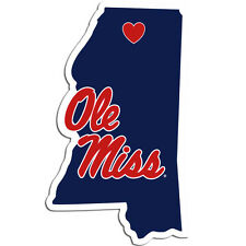 Ole Miss Rebels Home State Vinyl Auto Decal NCAA Licensed Made In the USA