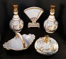 Vintage Carlin Comforts Porcelain Vanity Dresser Set