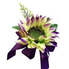 Pin Corsage - Shades of Purple, Lavender Sunflower