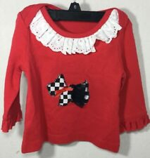 Baby Girl Puppy Shirt Red Top Scottish Terrier Dog Doggy