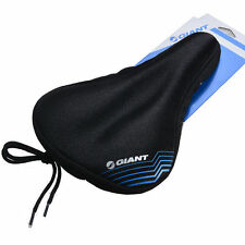 Giant Silicone Gel Bike Comfort Saddle Seat Cover Pad Cycling Soft Cushion Black
