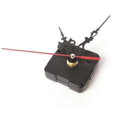 Movement Quartz Mechanism Clock Black and Red Hands DIY Part Tool Kits F