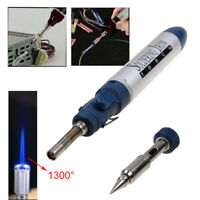 1300 Celsius Butane Gas Blow Torch Soldering Iron Gun Cordless Welding Pen
