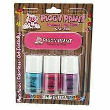 Piggy Paint Nail Polish and File Kit (Sea-quin, Forever Fancy, Girls Rule)