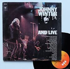 "Vinyle 33T Johnny Winter  ""And/live"""