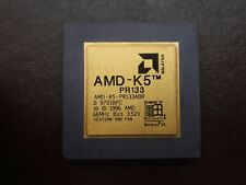 AMD-K5 PR-133 GOLD  VINTAGE CERAMIC CPU FOR GOLD SCRAP RECOVERY