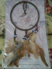 "Striking 14 1/2"" Dreamcatcher From Native American Lakota Sioux Plains Indians"