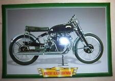 VINCENT BLACK LIGHTNING SERIES C CLASSIC MOTORCYCLE BIKE 1940'S PICTURE 1949