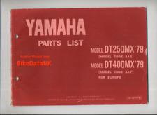 Yamaha DT250MX DT400MX (1979>) Parts List Catalog Book Manual DT 250 400 MX BK63