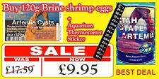 USA ARTEMIA EGGS BRINE SHRIMP EGGS Fast result / FRESH & DRY / UK ONLY